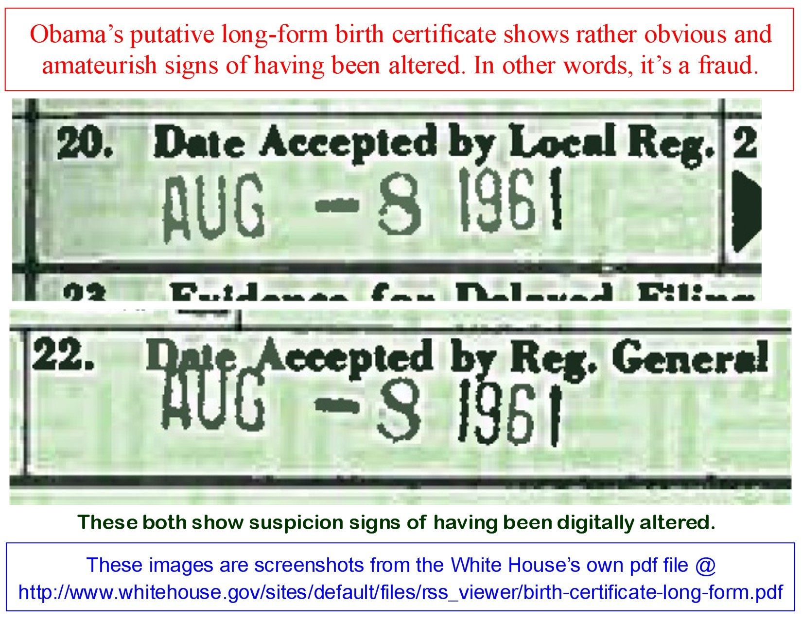 My Latest On The Birth Certificate