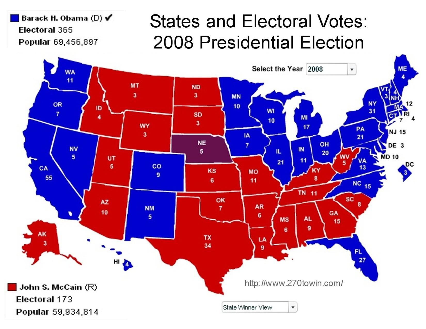 electoral vote 2008 -#main
