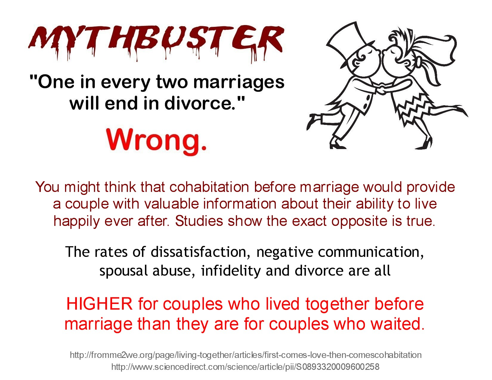 the impact of cohabitation on post Except perhaps for the short term prenuptial type of cohabitation, and probably also for the post-marriage cohabiting relationships of  impact of family disruption.