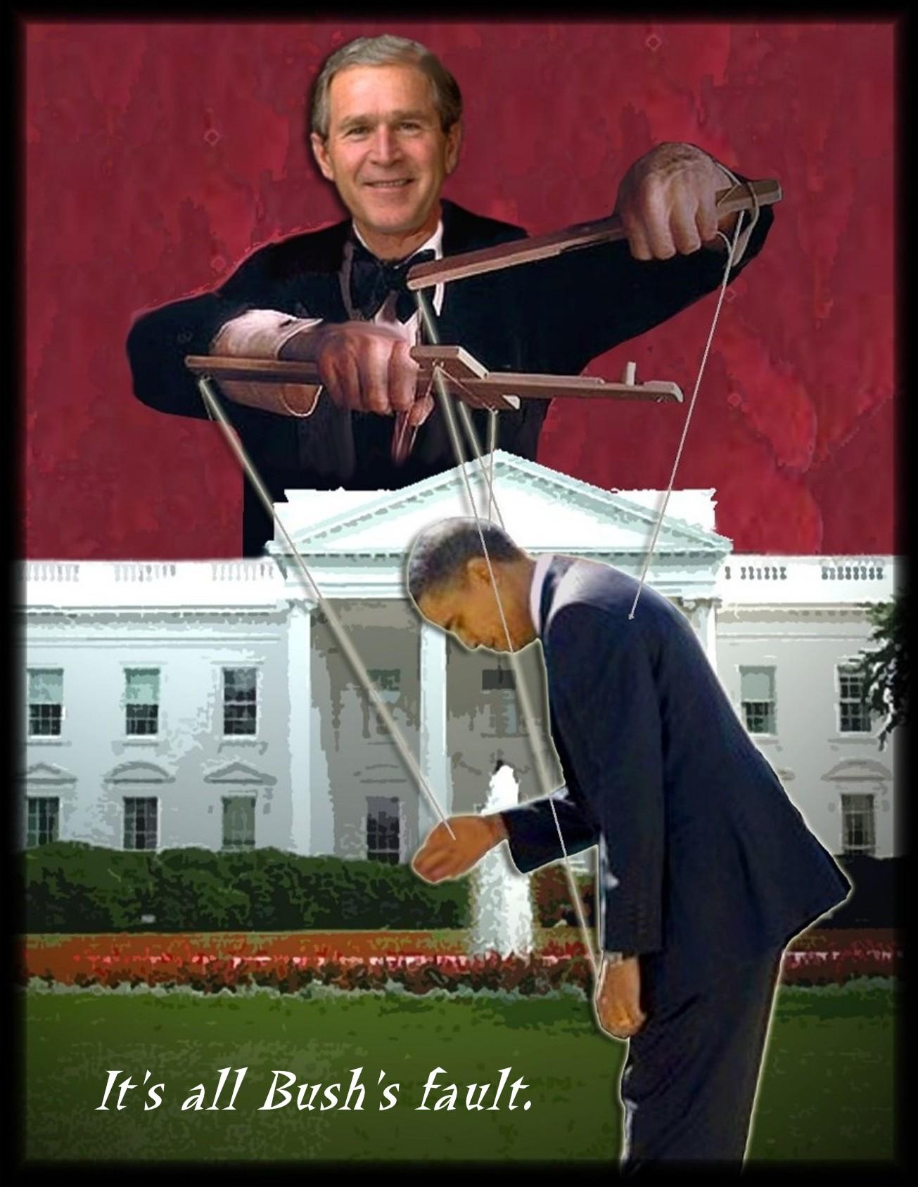 Image result for Obama blame bush for isis