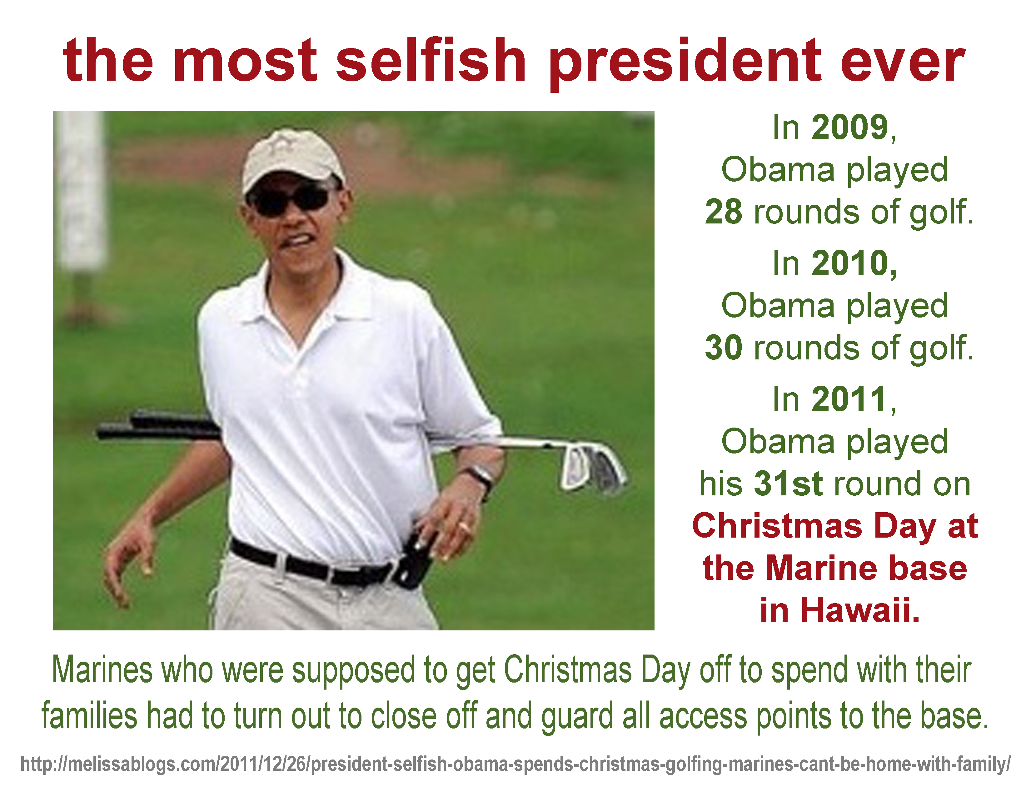 obama is selfish