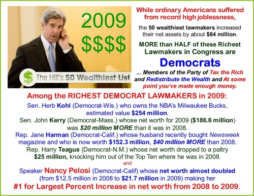 Hypocrite Democrats - Riches for me but not for thee