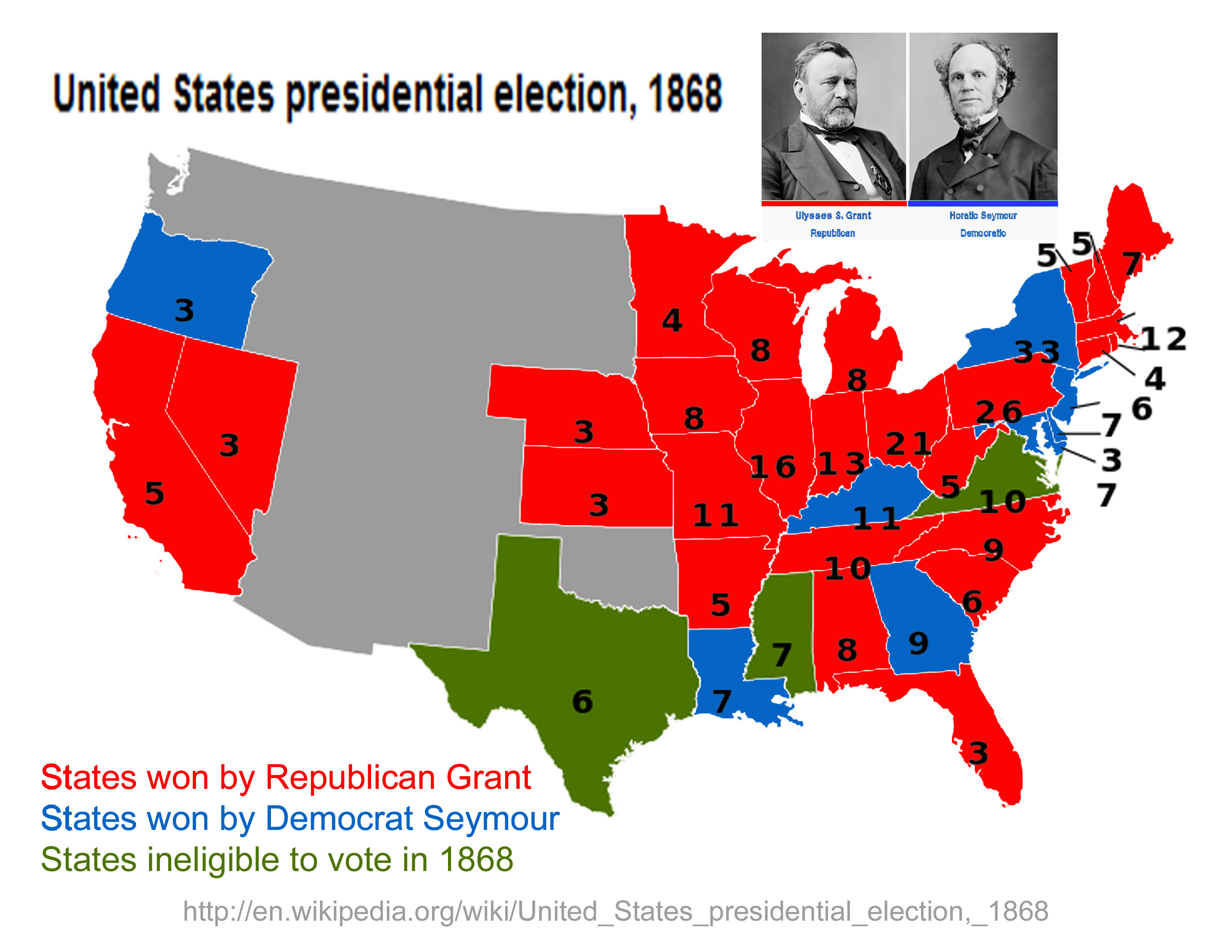 ... of the presidential election of 1868