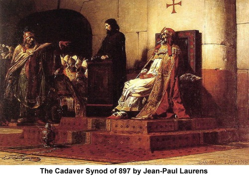 Cadaver Synod of 897 painting