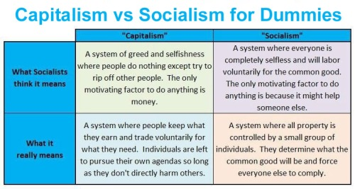 Capitalism vs Socialism for Dummies
