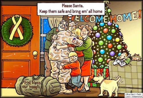 Christmas God bless our troops