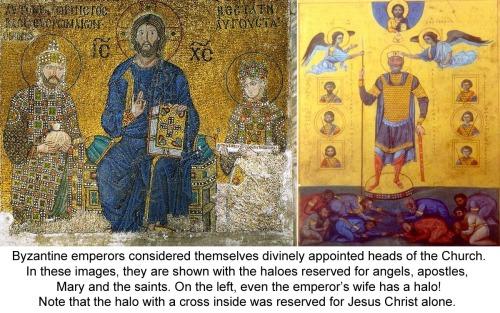 Eastern Emperors seen as God's chosen deputies