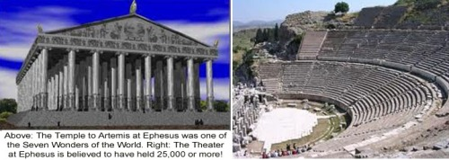 Ephesus temple and theater