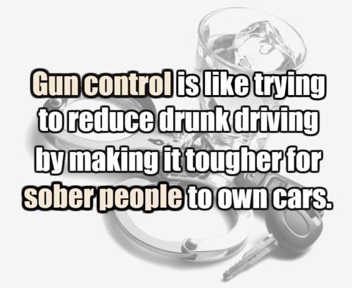 Gun control and drunk driving