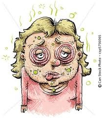 Sick woman clipart
