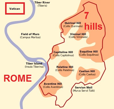 Vatican is not on Seven Hills of Rome