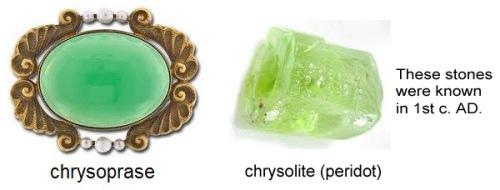 chrysoprase chrysolite peridot