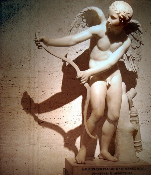 Classical statue of Cupid