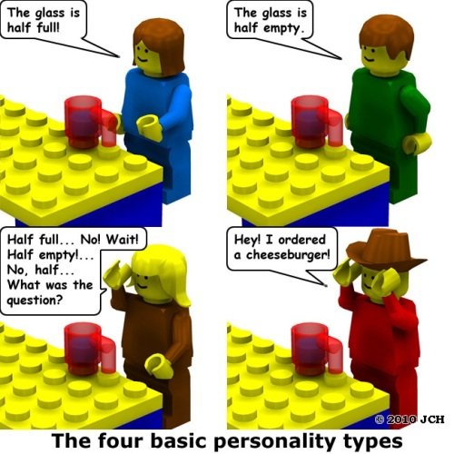 Farside in LEGO - The 4 personality types