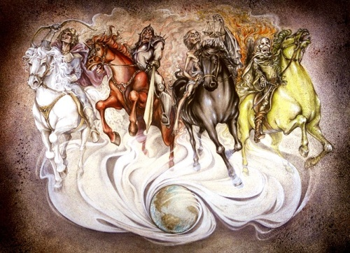 Four Horses of the Apocalypse by Unknown