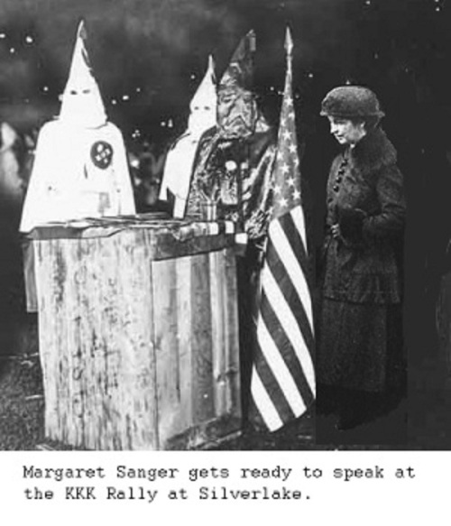 Margaret Sanger at KKK rally