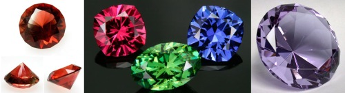 Modern faceted gemstones