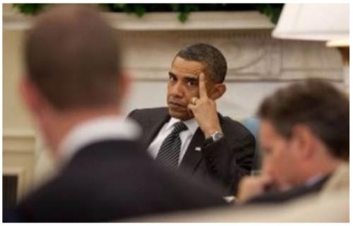 Obama's FINGER