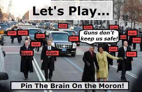 Pin the brain on the moron
