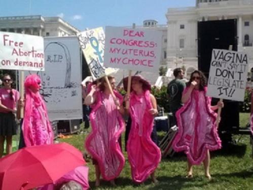 Pink vaginas speak