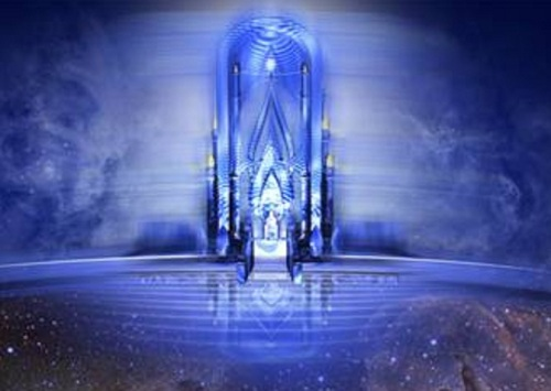 Sea of glass like crystal or sapphire tilework