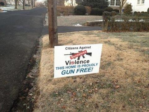 This home is proudly gun free