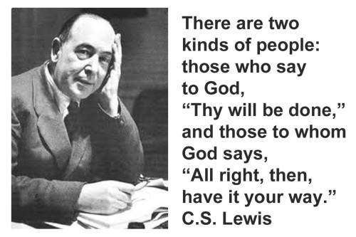 Two kinds of people by CS Lewis