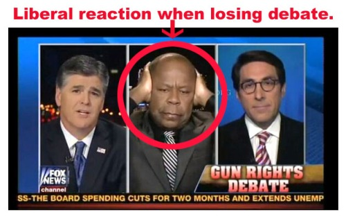 Liberal reaction when losing debate
