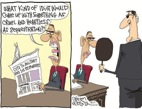 sequester obama cartoons