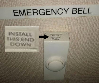 You had one job - emergency bell