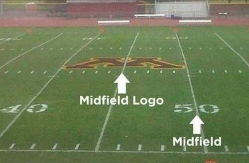 You had one job - midfield logo