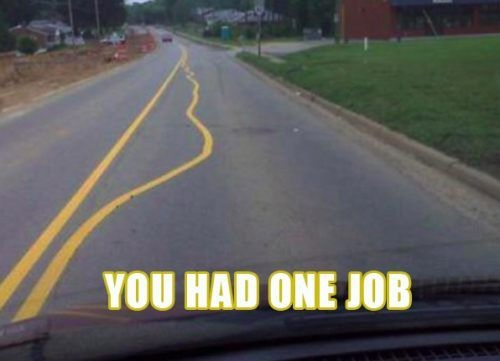 You had one job - road line
