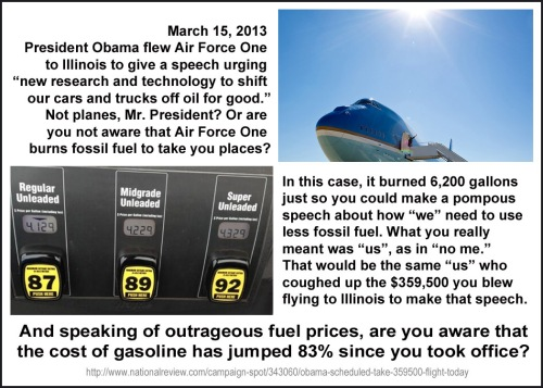 2013_03 15 Obama burns gas to preach about gas consumption