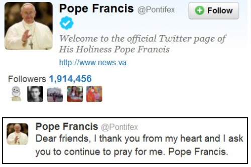 2013_03 17 Pope Francis Tweets