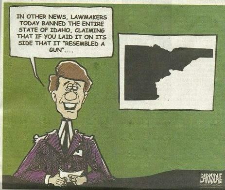 Liberals ban Idaho for looking like a gun