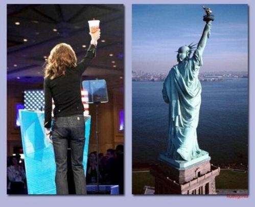 Palin Liberty Pose