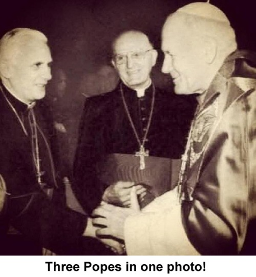 Three popes in one photo