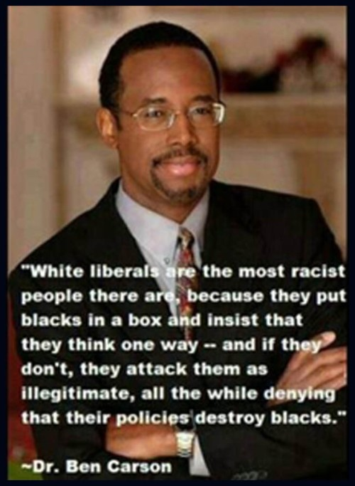 Ben Carson on White Liberal Racism