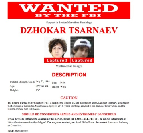 FBI wanted poster - CAPTURED