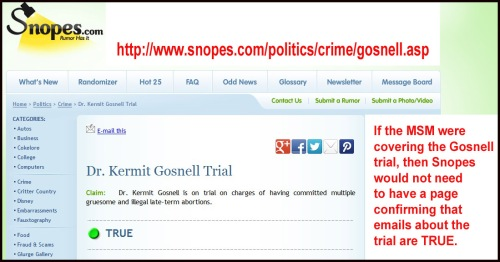 Gosnell at Snopes