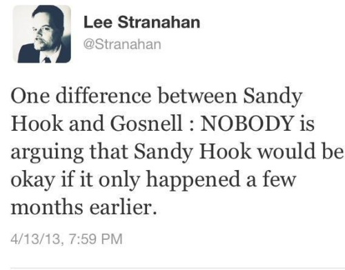 Sandy Hook vs Gosnell