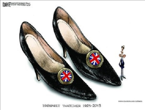 Thatcher's shoes