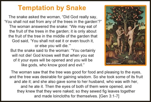 15b Temptation by snake