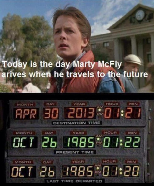 2013_04 30 Marty McFly arrived from the past
