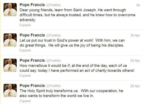 2013_05 01 Pope tweets