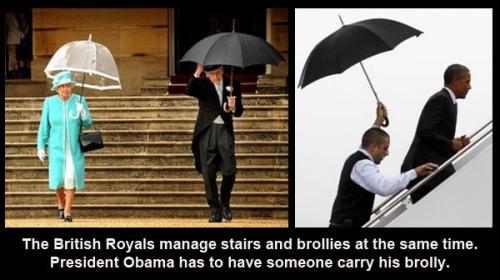 British Royalty carries own umbrellas