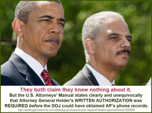 Holder's signature was necessary to get subpoena