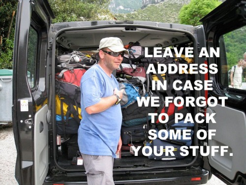 Leave an address