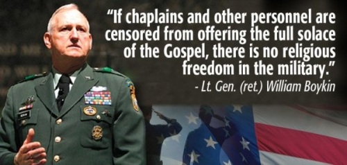 No religious freedom in military