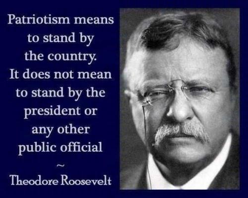 Patriotism - Teddy Roosevelt